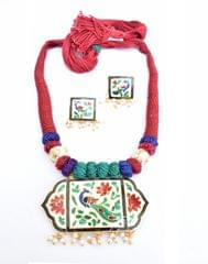 Threaded Meenkari Necklace Set- Pattern 8