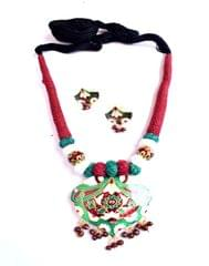 Threaded Meenkari Necklace Set- Pattern 11