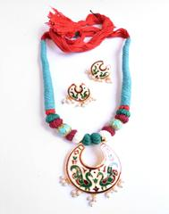 Threaded Meenkari Necklace Set- Pattern 12