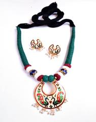 Threaded Meenkari Necklace Set- Pattern 13