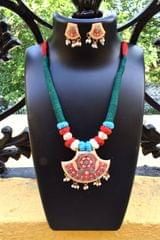 Threaded Meenkari Necklace Set- Pattern 14