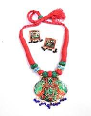 Threaded Meenkari Necklace Set- Pattern 18
