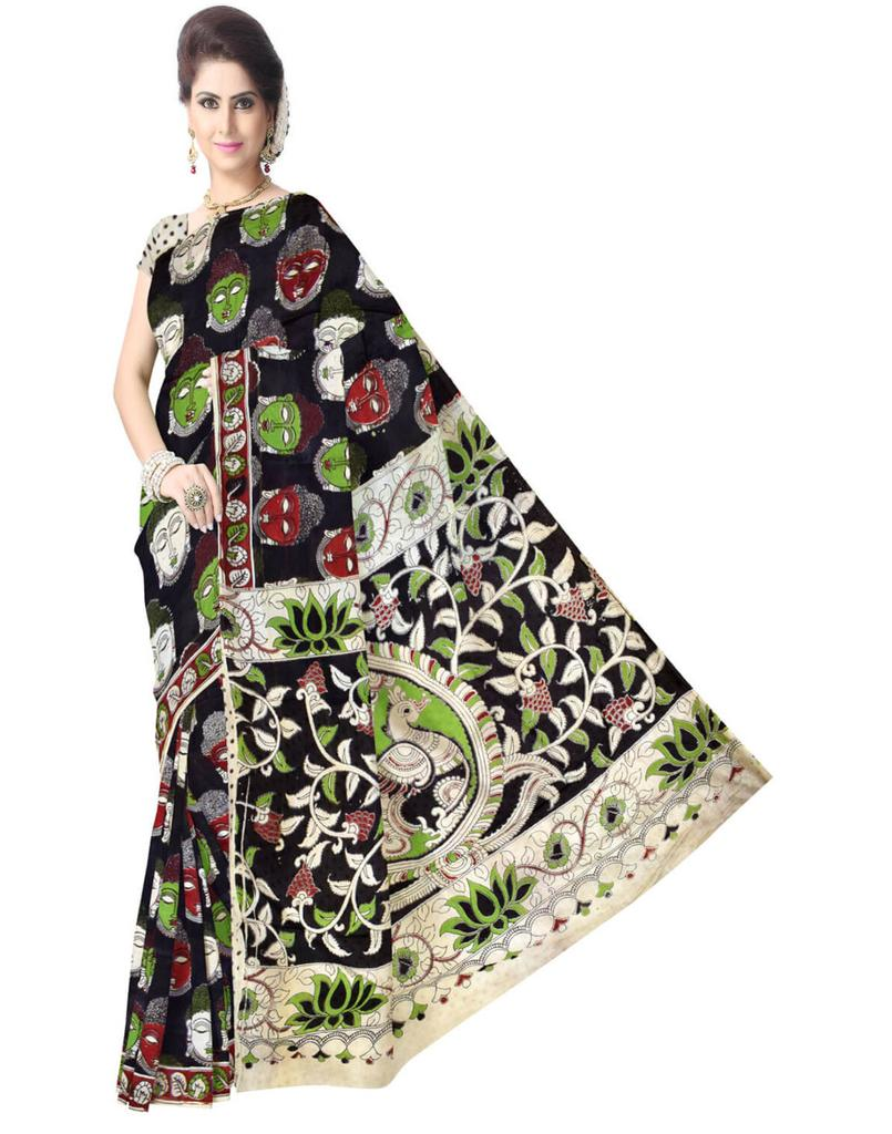 Kalamkari Saree in Silk -Multicolor