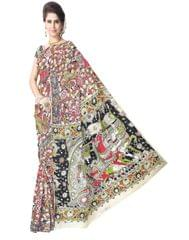 Kalamkari Saree in Silk -Multicolor 1