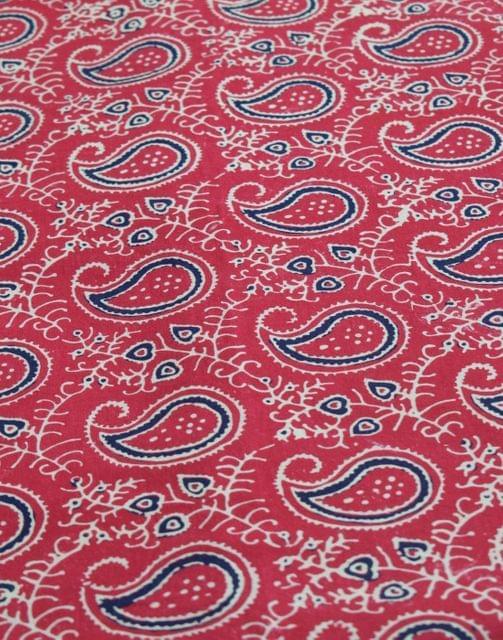 Ajrak Print Cotton Running Material- Pattern 1 (1 mtr/2.5 mtr)