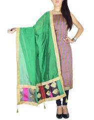 Unstitched Maheshwari Kurta & Chanderi Dupatta -Green