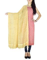 Cotton Ajrak Print Cutwork Kurta & Khadi Dupatta-Multicolor