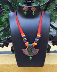 Threaded Meenakari Necklace Set- Pattern 21