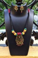 Threaded Meenakari Necklace Set- Pattern 6