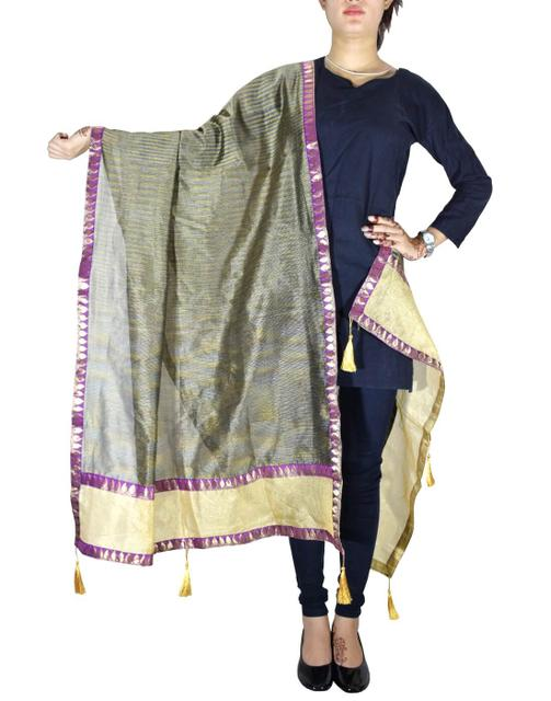 Chanderi Cotton Silk Dupatta- Multicolor