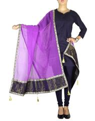 Chanderi Cotton Silk Dupatta- Purple 1