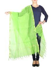 Cotton Silk Dupatta-Green