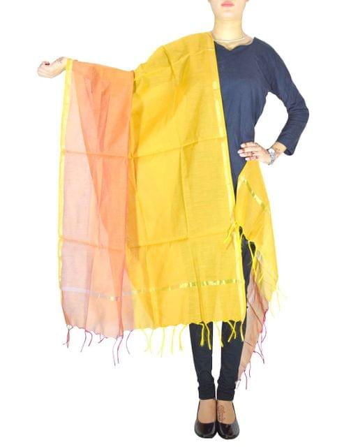 Cotton Silk Dupatta-Orange&Mustard