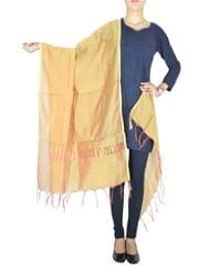 Cotton Silk Dupatta-Rust