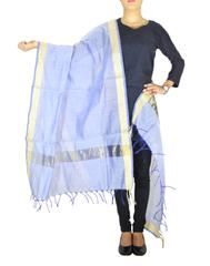 Cotton Silk Dupatta-Purple