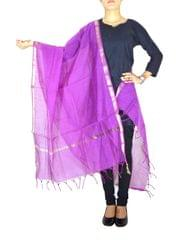 Cotton Silk Dupatta-Fuschia