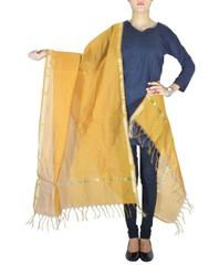 Cotton Silk Dupatta-Light Brown