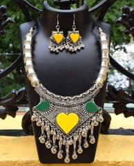 Oxidized Metal Set Colored- Yellow&Green