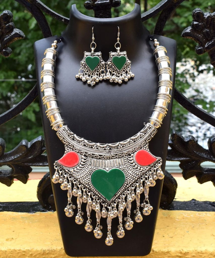 Oxidized Metal Set Colored-Red&Green