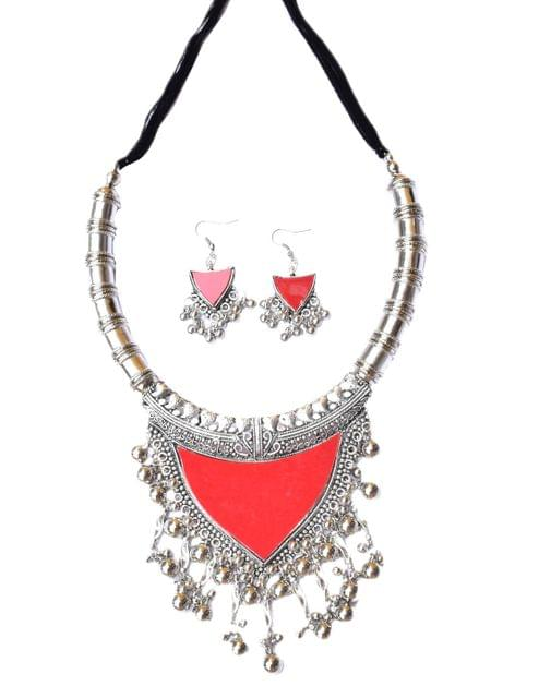 Oxidized Metal Set Colored-Red