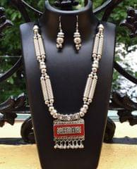 Oxidized Metal Set Colored-Red 1
