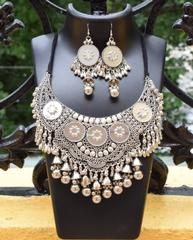 Oxidized Metal Jewellery Set- Mirror 1