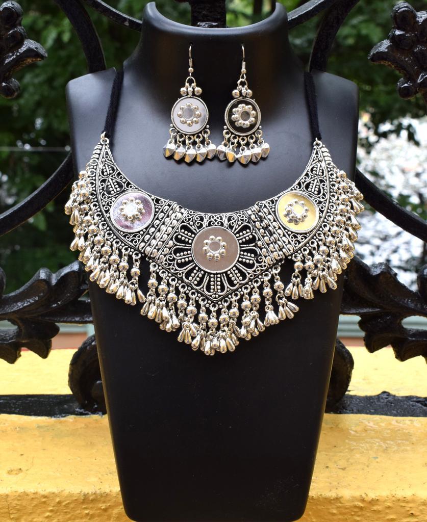 Oxidized Metal Jewellery Set- Mirror 2