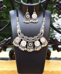 Oxidized Metal Jewellery Set- Mirror 3