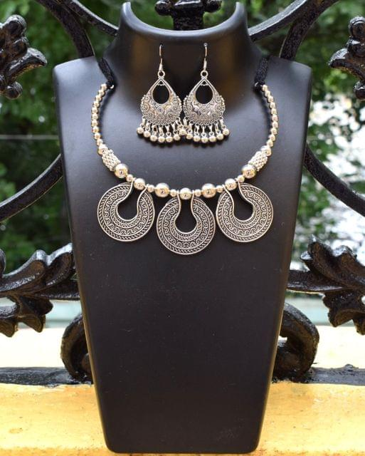 Oxidized Metal Jewellery Set- Pendant