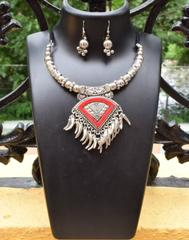 Oxidized Metal Set Colored- Red