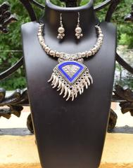 Oxidized Metal Set Colored- Blue