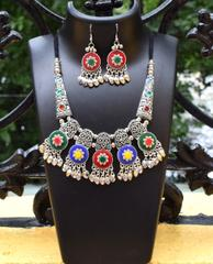 Oxidized Metal Set Colored- Multicolor 3