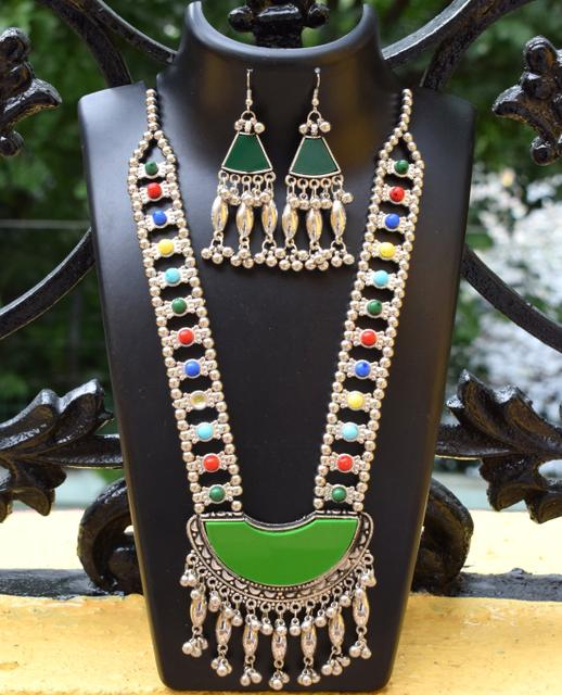 Oxidized Metal Set Colored- Green