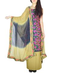 Handembroidered Salwar Suit with Champa Jaal-Beige&Black