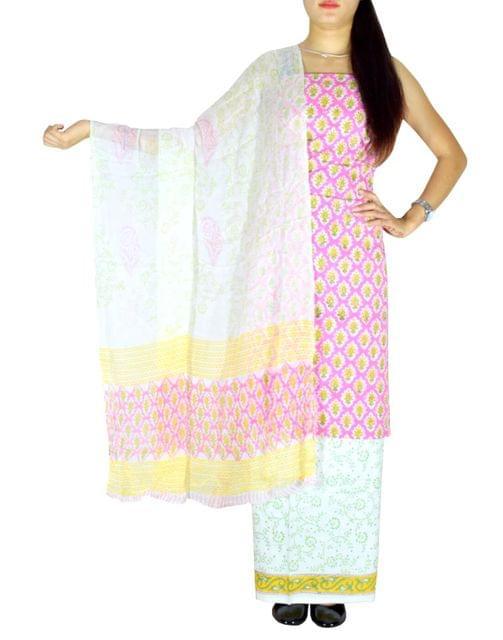 Bagru Print Salwar Suit Cotton- Pattern 1