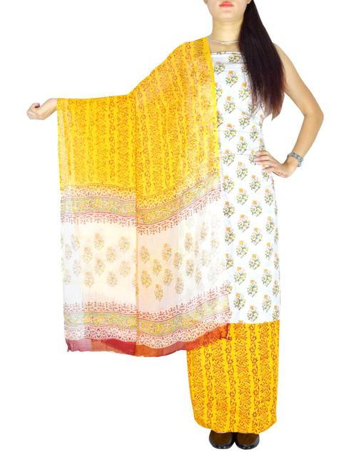 Bagru Print Salwar Suit Cotton- Pattern 2