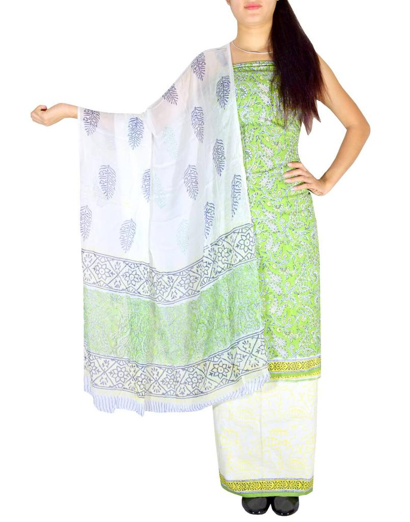 Bagru Print Salwar Suit Cotton- Pattern 4