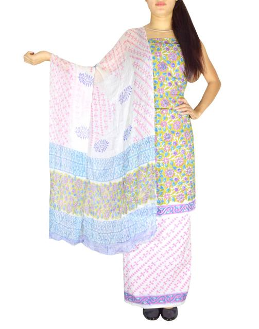 Bagru Print Salwar Suit Cotton- Pattern 6