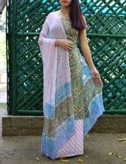 Bagru Print Salwar Suit Cotton- Pattern 6
