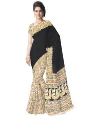 Kalamkari Saree in Cotton-Black