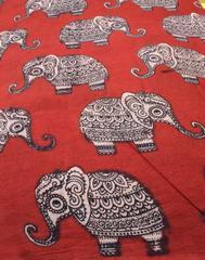 Kalamkari Handblock Print Running Material- Pattern 7 (1 mtr/2.5 mtr)