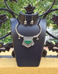 Oxidized Metal Set Colored-Green