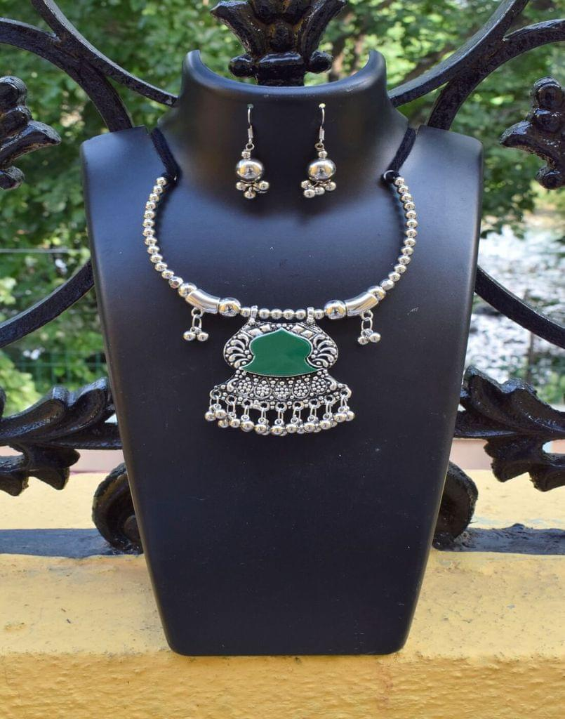 Oxidized Metal Set Colored-Green 1