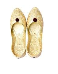 Golden Rajasthani Juttis/Mojris for Women