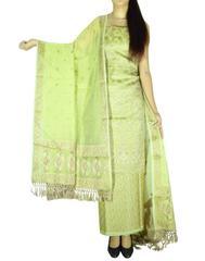 Benarasi Jamdani Brocade Suit in Silk-Cotton-Pattern 1