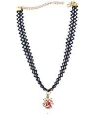 Lace Choker with Bell Pendant