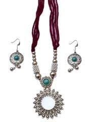 Oxidized Metal Set Colored-Brown
