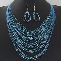 Multilayered Blue Bead Set
