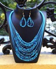 Multilayered Blue Bead Set