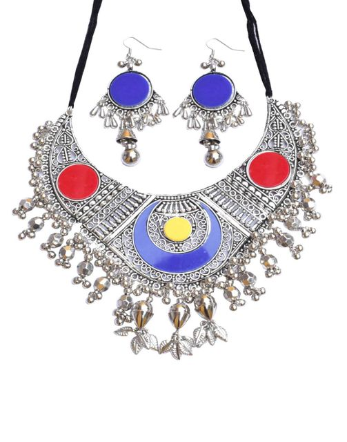 Oxidized Metal Set Colored- Multicolor 1